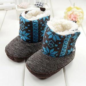 GT-DRESS Kids Winter National Flower Print Wool Crib Shoes Toddler Fur Snow Boots... by GT Dress