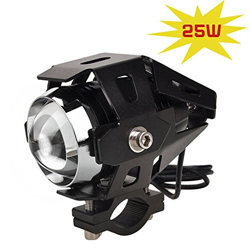 Yaoyun@ Black Transformers 25W White Cree Led Light Motor Motorcycle Accessories High Beam Low Beam Strobe Light Led Driving Lamp