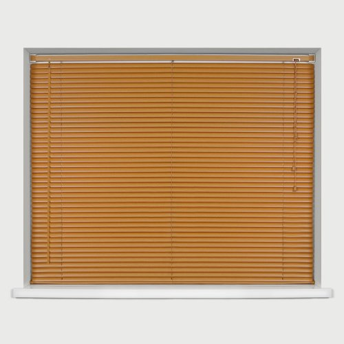 EASYFIT TEAK Wood Effect Venetian blind * AVAILABLE IN WIDTHS 45 CM TO 210 CM * ALSO AVAILABLE IN DARK OAK, BLACK...