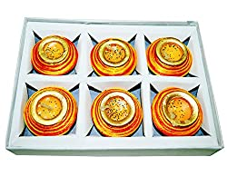 Sanskrite India Traditional Terracotta Diwali Diya Brown Set Of 6 With Cotton Wicks Diwali Festival Dcor