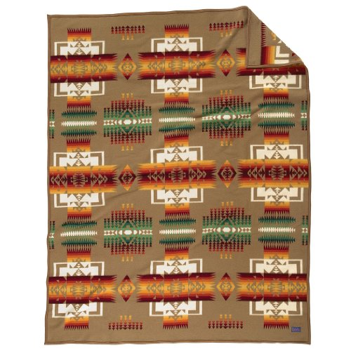 Pendleton Chief Joseph Crib Blanket - Khaki - 1