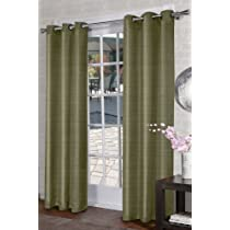 Jaclyn Love 2-Pack Turin Curtain 40 by 84-Inch Lime