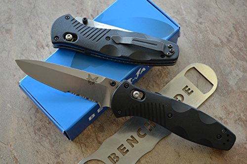 Benchmade 580S Barrage Assisted Opening Knife with FREE Benchmade Bottle Opener