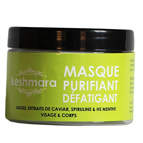 keshmara masque purifiant d fatiguant pour visage corps argile 200 g. Black Bedroom Furniture Sets. Home Design Ideas