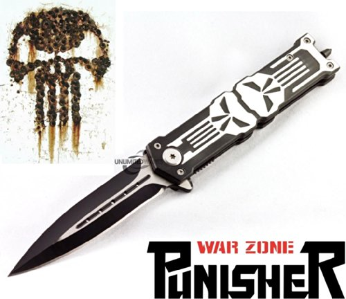 Unlimited Wares Punisher Assisted Opening Folding Knife 5-Inch Closed