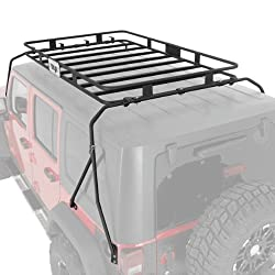 "Warrior Products Safari Sport Rack - One Piece Basket (47"" x 67"" x 5"") 2007-2013 Jeep Wrangler JK # 877"