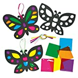 Butterfly Stained Glass Effect Decorations - Pack of 6
