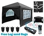 Mcc@home 3x3m Black Pop-up Waterproof...