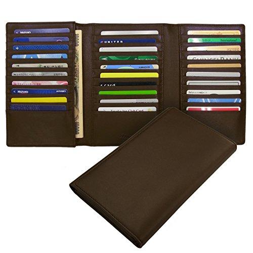 (ミラグロ) Milagro BTWL03 ソフトレザー 30枚カード 収納ウォレット 長財布 [本革][BESPOKE ビスポーク] (チョコ)