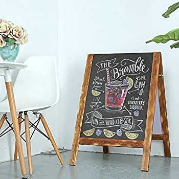 Wood A-Frame Double-Sided Chalkboard