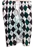 Flow Society Authentic Lacrosse Gear Argyle Grey/Green Lax Mesh Short Youth Extra Large XL
