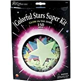 Super Colorful Celestial Stars Glow in the Dark Wall Decoration Kit