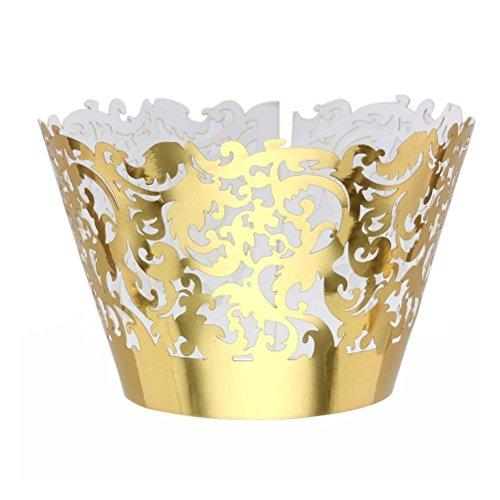 Pixnor 50pcs Cupcake Wrappers encapsule cas or décorations anniversaire de mariage