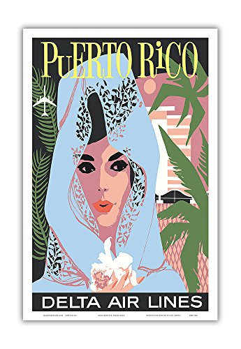 puerto-rico-delta-air-lines-woman-in-blue-lace-mantilla-vintage-airline-travel-poster-c1960s-master-