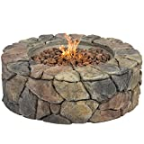 Best-Choice-Products-Stone-Design-Fire-Pit-Outdoor-Home-Patio-Gas-Firepit