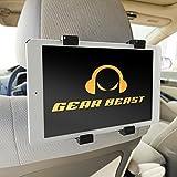 Car Back Seat Headrest Mount Holder for iPad, iPad Air, iPad Mini, iPad Pro 9.7, Samsung Tab, Asus Transformer, Nvidia Shield, Google Pixel C, Sony Xperia Z4, Z3, Nexus 9 and Other 7