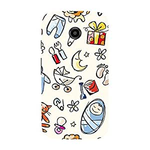 Garmor Designer Silicone Back Cover For Motorola Moto E