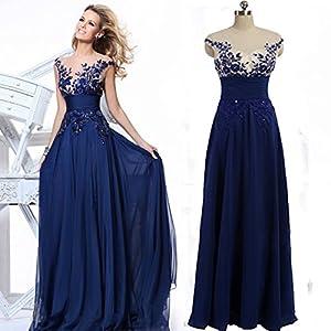 Neck See Through Royal Blue Party Dresses 2015 Vestido Com Perolas 14w