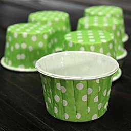 Chunlin 50pcs Paper Cake Cup Cupcake Wrapper Cases Liner Muffin Baking Wedding XMAS Party (Green)