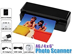 PS-A60 Black 3-in-1 A6 Size Paper/ Photo/ Name Card Scanner