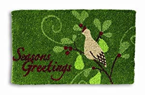 "Tag Season's Greeting Christmas Coir Mat 18"" x 30"""