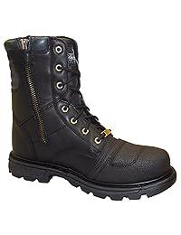 "Thorogood Men's 8"" Cap Toe Side Zip Motorcycle Boot"