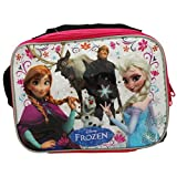 Disney Frozen Rectangle Lunch Bag with Strap - Featured in Elsa, Anna, Olaf and More Characters