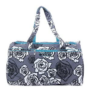 Ju-Ju-Be SuperStar Travel Duffel Bag with (2) Zippered Pockets, Charcoal Rose by Ju-Ju-Be