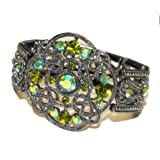 Vintage Inspired Dazzling Heirloom Cuff Bracelet