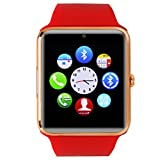Buyee Bluetooth Smart with NFC Watch Wrap Wrist Watch Phone Mate for Smartphones IOS Android Samsung S3/s4/s5/note 2/note 3/note 4 HTC Sony Lg and Iphone 5/5c/5s/6/6 Plus(red)