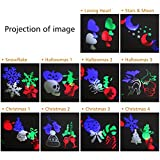 Halloween Projector Lights, Auledio Outdoor IP65 Waterproof Snowflake Landscape Spotlight LED Christmas Projection Light Show for Patio, Lawn, Garden, Holiday and Halloween Decorations