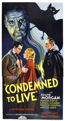 Condemned To Live Vintage Movie Poster