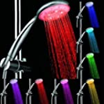 7 COLOR LED SHOWER HEAD LIGHTS WATER...