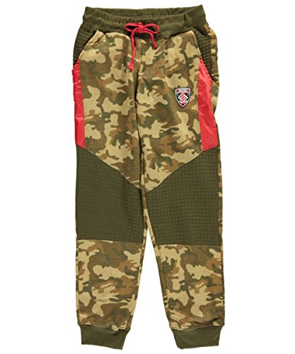 Enyce Big Boys Quilted Camo French Terry Sweatpants