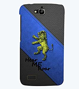 PRINTSWAG LION Designer Back Cover Case for HUAWEI HONOR HOLLY