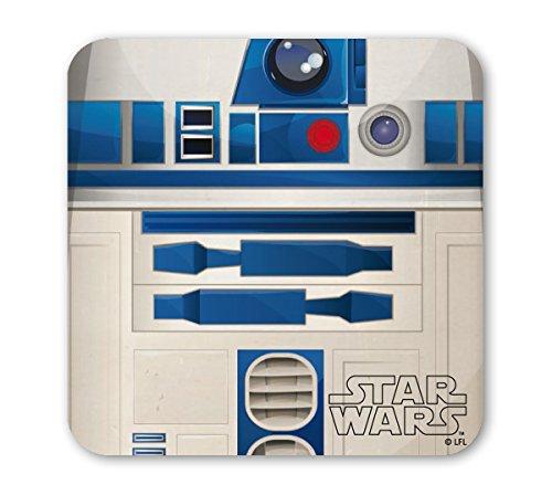 LOGOSHIRT - Guerre stellari Sottobicchiere sughero - Star Wars Coaster - R2-D2 - colorato - Design originale concesso su licenza