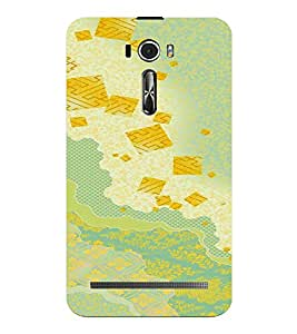 PrintVisa Colorful Pattern 3D Hard Polycarbonate Designer Back Case Cover for Asus Zenfone 2 Laser ZE601KL