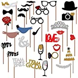 Wedding Photo Booth Props new design 2016, wedding decorations, photo props, 31 pcs attached to the stick NO DIY required only from USA-Sales Seller, Ships from USA