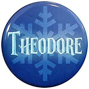Amazon.com: Henry the Buttonsmith Theodore Winter Ice Name Tag: Toys