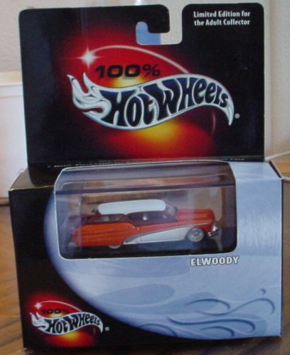 100% Hotwheels Elwoody #03 Orange/White w/Display Case