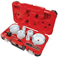 Milwaukee 28-Piece All Purpose Professional Ice Hardened Hole Saw Kit (Red)