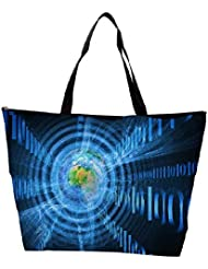 Snoogg Abstract Internet Background Waterproof Bag Made Of High Strength Nylon - B01I1KHGCK