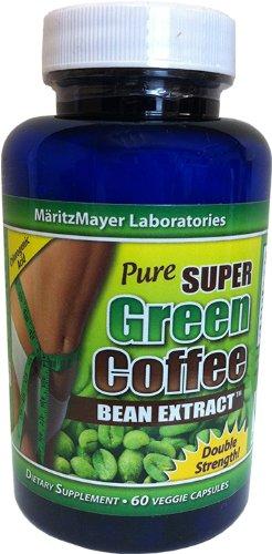 PURE SUPER GREEN COFFEE BEAN EXTRACT 800 MG 120 VEGGIE CAPS
