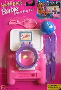 Pics photos barbie volleyball fun sparkle beach playset 1995