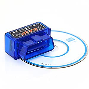 ELM327 Bluetooth Mini car diagnostic Tool OBD2 Interface OBDII Scanner Android V1.5 ELM 327 cable Torque CAN BUS Code Software CAN-BUS UK Wireless PC new version 2013 laptop Reader ELM/327 CANBUS OBD