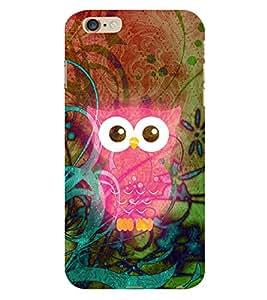 Pink Ullu Owl 3D Hard Polycarbonate Designer Back Case Cover for Apple iPhone 6