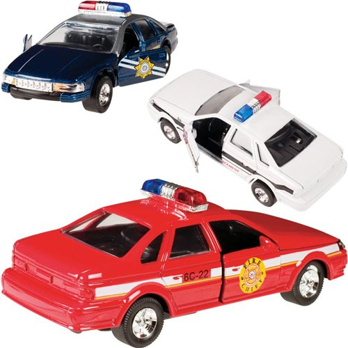 Toysmith Pull Back Police Cars