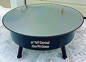 "Amazon.com : 34 3/4"" Metal Conical Shape Cover fire pit ..."