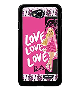 PrintDhaba Love D-5693 Back Case Cover for LG L70 (Multi-Coloured)