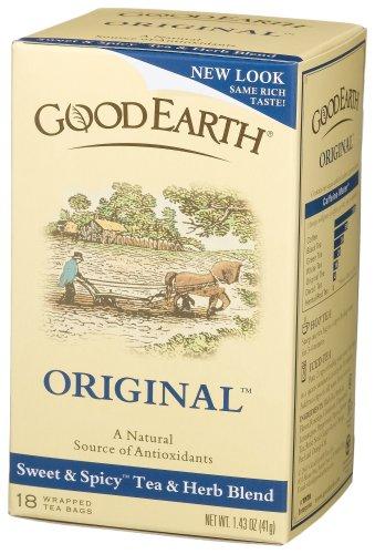 Good Earth Original Tea Blend, Tea Bags, 18-Count, Boxes (Pack of 6)